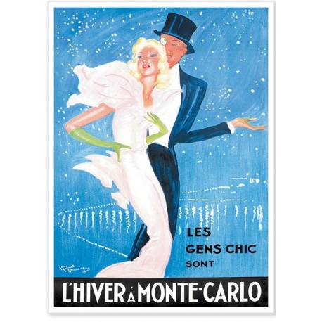 Affiche - L'hiver à Monte-Carlo - Ville de Monte-Carlo