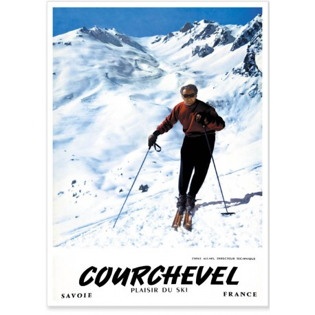 Affiche - Émile Allais - Courchevel