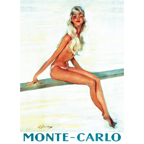 Poster 30x40 - Pin-up sur le Plongeoir