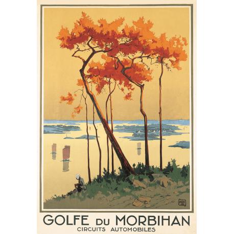 Affiche 50x70 - Le Golfe du Morbihan