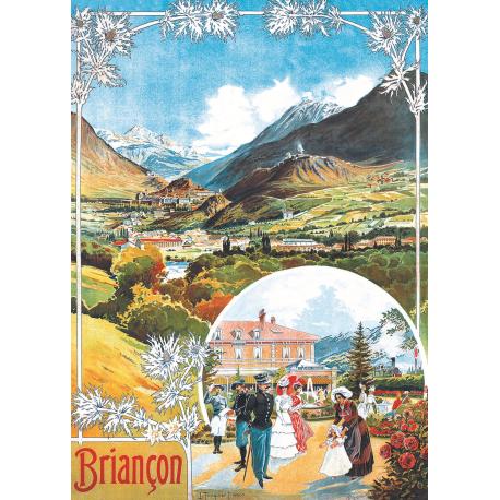 Affiche 50x70 - Briançon et sa Gare