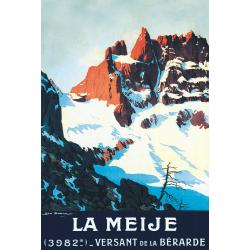 Affiche 50x70 - La Meije depuis la Bérarde