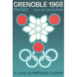 Affiche 50x70 - JO de Grenoble Flocon