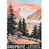 Affiche 50x70 - Dauphiné Oisans Belledonne