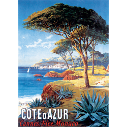 Affiche 50x70 - Cannes Nice Monaco