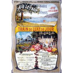 Affiche 50x70 - Train pour Aix-les-Bains