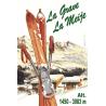 Affiche 50x70 - Skis à La Grave et La Meije