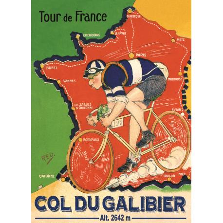 Affiche 50x70 - Tour de France au Galibier