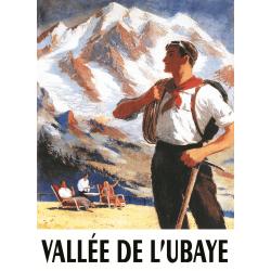 Affiche 50x70 - SNCF Alpiniste dans la vallée de l'Ubaye