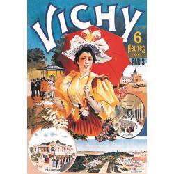 Affiche 50x70 - Vichy à 6 heures de Paris