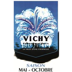 Affiche Vichy 50x70 Ville d'Eau Éternelle