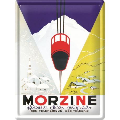 Plaque métal 30x40 - Morzine Fleur des Alpes