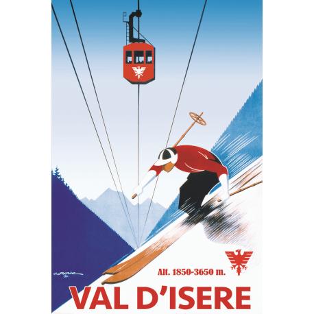 Affiche 50x70 - Téléphérique de Val d'Isère