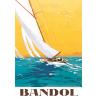 Affiche 50x70 - Voilier à Bandol