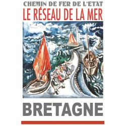 Affiche 50x70 - Mer agitée en Bretagne