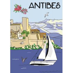 Affiche 50x70 - Antibes par Marina Vandel