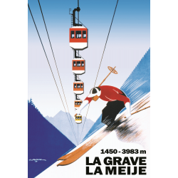 Affiche 50x70 - Téléphérique La Grave