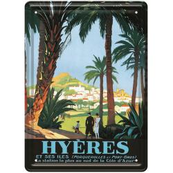 Plaque métal 15x21 - Les palmiers Hyères (rupture définitive)
