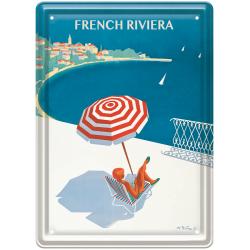 Plaque métal 15x21 - Côte d'Azur La French Riviera (fin de série)