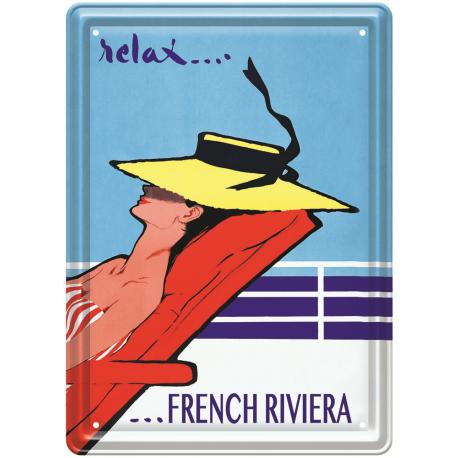 Plaque métal - Relax sur la Côte d'Azur