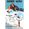 Affiche 50x70 - Ski dans le Haut Verdon