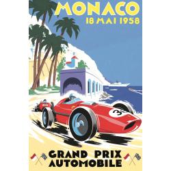 Affiche 50x70 - Grand Prix de Monaco de 1958
