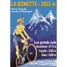 Affiche 50x70 - Cycliste au col de la Bonette
