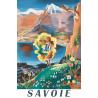 Affiche 50x70 - Représentation figurative de la Savoie