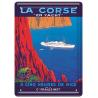 Plaque métal 15x21 - Croisière en Yacht