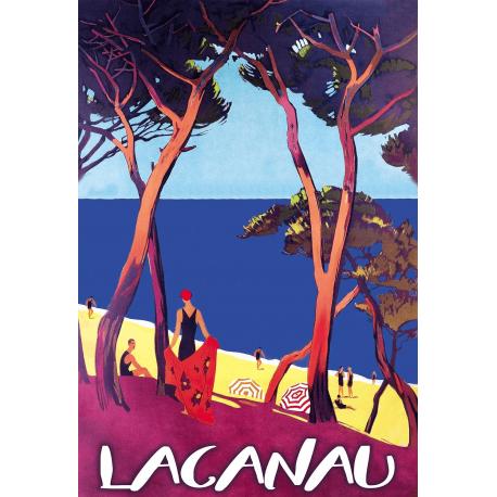 Affiche 50x70 - L'Océan à Lacanau