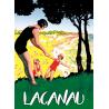 Affiche 50x70 - Vacances en famille à Lacanau