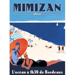 Affiche 50x70 - Mimizan Plage