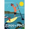 Affiche 50x70 - Standup Paddle à Juan les Pins