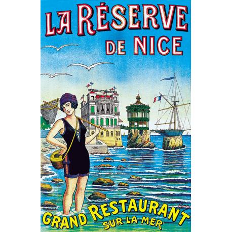 Affiche 50x70 - Restaurant La Réserve de Nice
