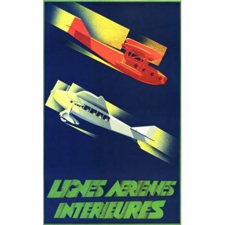 Affiche - Avions (fin de série) - Lignes aériennes intérieures