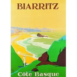 Affiche - Biarritz - Côte basque (rupture définitive)