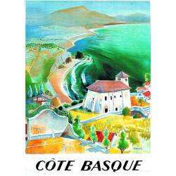 Affiche - La côte basque (rupture définitive)