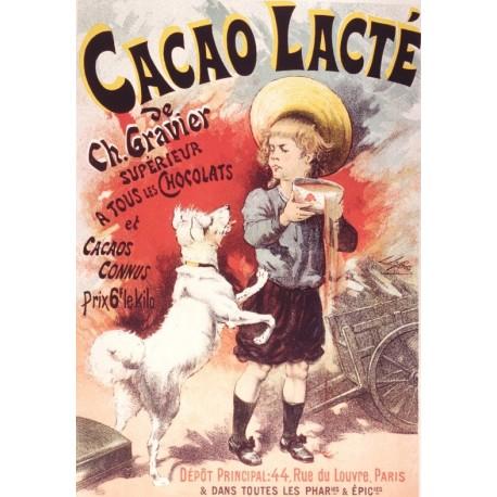 Affiche - Garçon et Chien (fin de série) - Cacao Lacté