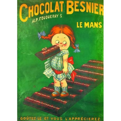Affiche - Fillette (fin de série) - Chocolat Besnier