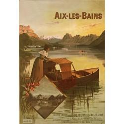 Affiche - Aix-les-Bains - Le Lac du Bourget (fin de série)