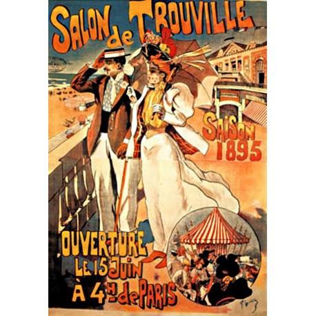 Affiche - Salon de Trouville (fin de série) - Ville de Trouville