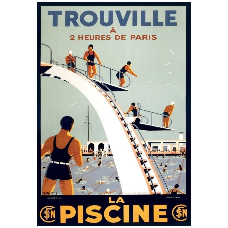 Affiche la piscine de trouville fin de s rie for Piscine trouville