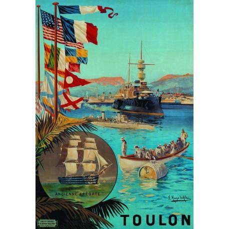 Affiche - Toulon - Port de guerre (fin de série) - Ville de Toulon