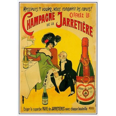Affiche - Jarretière (fin de série) - Champagne de la Jarretière