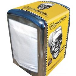 Distributeur de serviettes - Noir et blanc (fin de série)