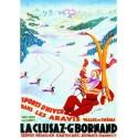 Affiche - La Clusaz - Piste de ski (rupture définitive)