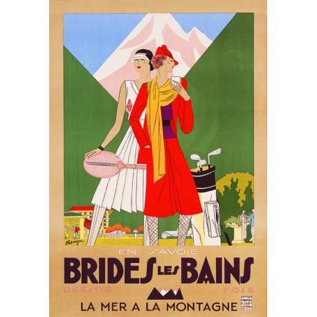 Affiche - Brides-les-Bains - La montagne à la mer (fin de série) - PLM