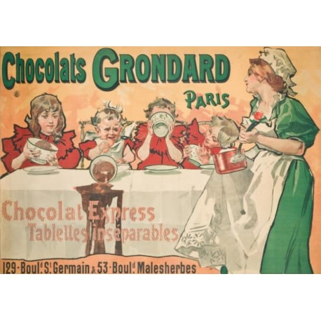 Affiche - Tablée (fin de série) - Chocolat Grondard