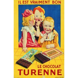 Affiche - Enfants (fin de série) - Chocolat Turenne