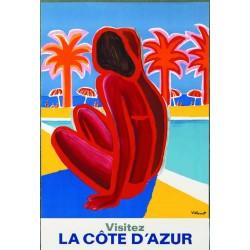 Affiche - Visitez la Côte d'Azur - SNCF